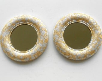 Wall Mirrors, Decorative Wall Mirrors, Round Mirrors, Small Decorative Mirrors, Decorative Mirrors, Gold Silver Leaf Mirrors,Item GSLRM50018