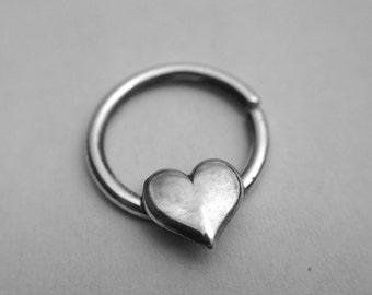 Shiny Heart Septum Ring
