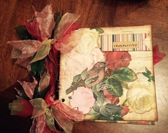Vintage Roses Chipboard Mini Scrapbook