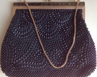 Vintage Beaded Evening  Bag - 60s