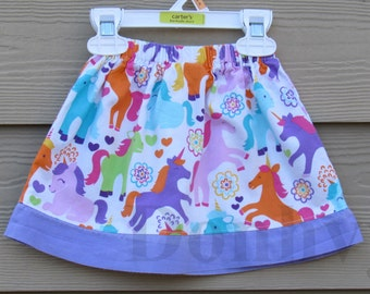 Toddler's Pony/ Unicorn Skirt. Made to Order Skirt in Size: 6mos-8.