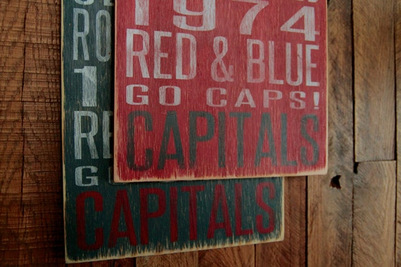 Washington Capitals Hockey Distressed Wood Sign--Great Father's Day Gift!