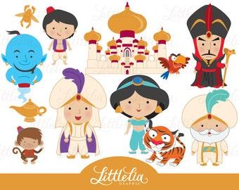 Princess clipart - Aladdin clipart - Arabian night clipart - 15033