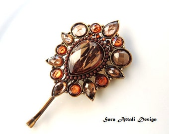 Lovely Elegent Hair Pin, Bronze Hair Clip,Brown hairpin, Vintage Pin  Bobby Pins, Vintage Hair Clip style,Wedding Bridal Hair Clip