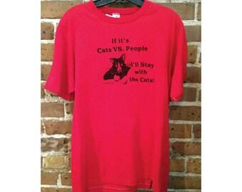 Vintage Cat Lover Tee Shirt - cat kitten kitty tee