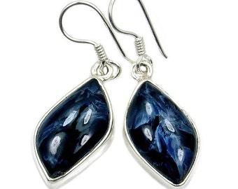 Night Fog' Rare Pietersite & Sterling Silver Dangle Earrings , AC860