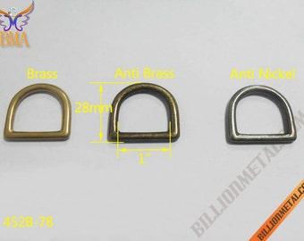 """1"""" Solid Brass Handbag Accessories D Ring(452BR-78)"""