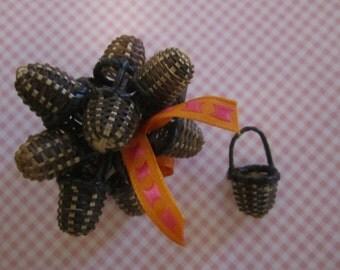 Miniature Baskets Vintage Handmade - 12