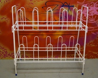 Vintage shoe rack in white