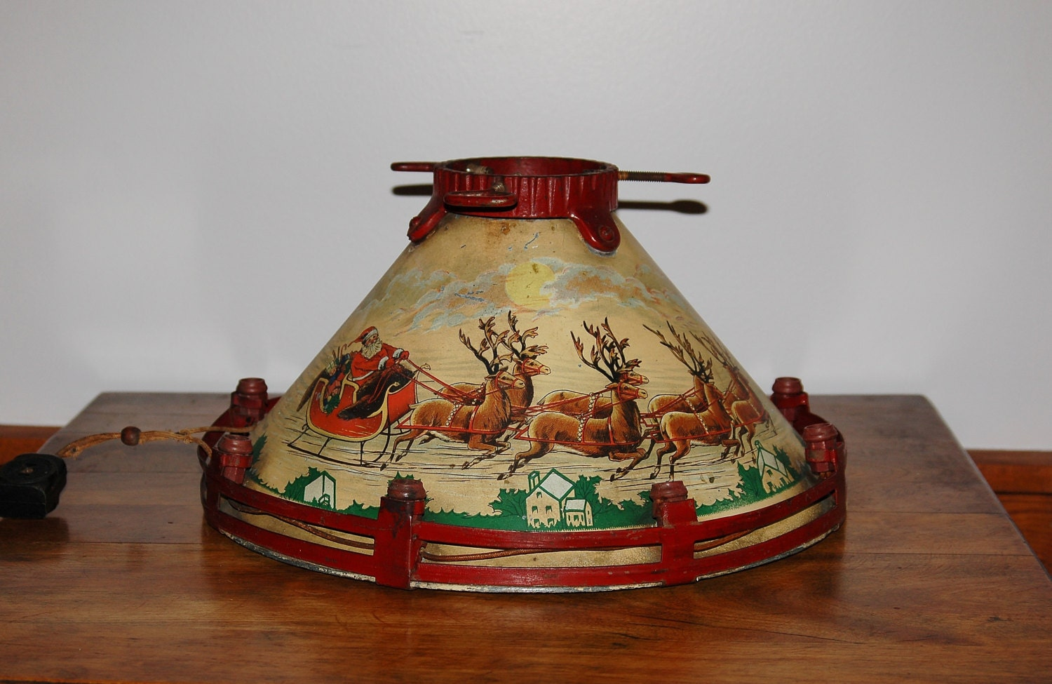 Noma Christmas Tree Stand Collectible Lithographed Tin Metal