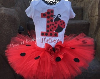 Lady Bug First Birthday Tutu Outfit, Lady Bug Tutu Outfit, Lady Bug Tutu, Lady Bug Birthday Outfit, Lady Bug Halloween Outfit LB1
