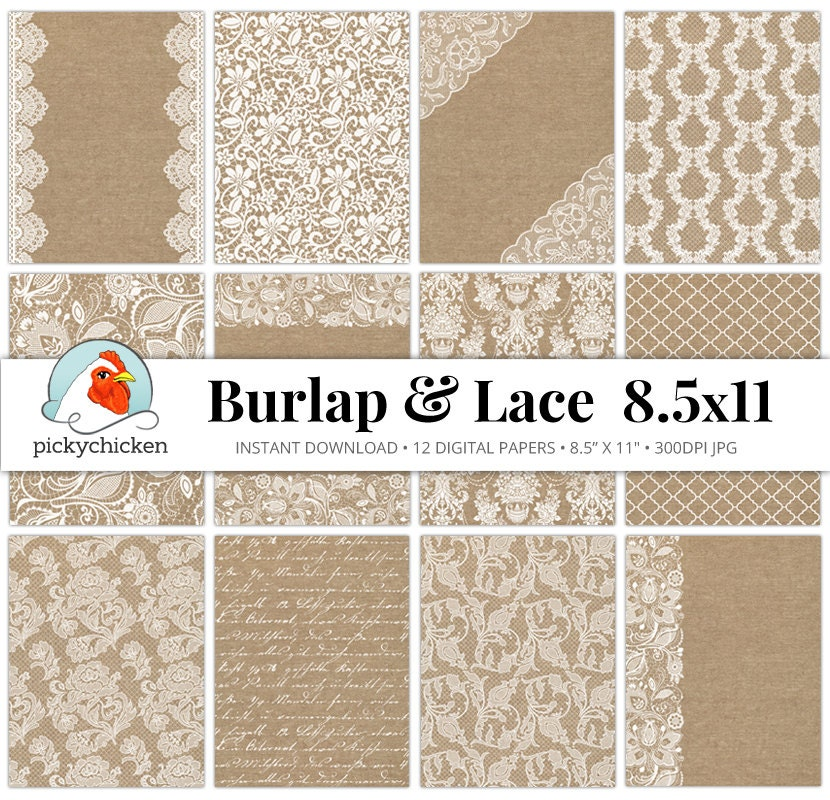 burlap lace digital paper burlap lace rustic. Black Bedroom Furniture Sets. Home Design Ideas