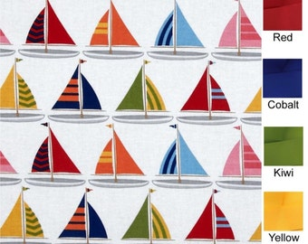 Sailing Away - Plum Creek Knitting Project Bag - Choice of Size (1081)