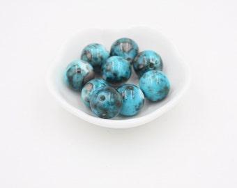 Blue Pattern Focal Beads