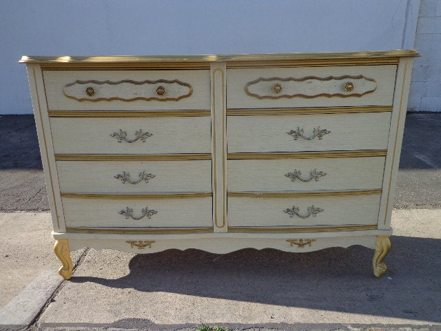 french provincial sears bonnet dresser chest of drawers shabby