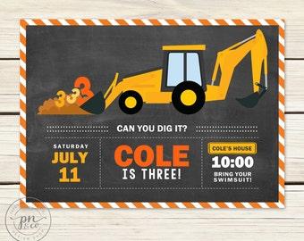 Construction Site Birthday // Construction Birthday // Construction Theme Birthday // Backhoe Party // DIY Printables