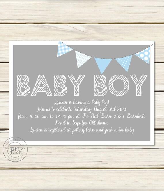 simple baby shower invitation boy baby shower invitation baby