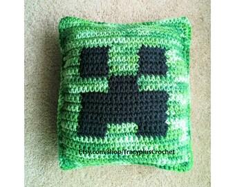 Crochet Gamer pillow. Small gaming pillow. Handmade to order.