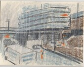 Rainy Street, drawing