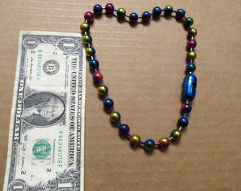 Retro Rainbow Colored Large Metal Ball Necklace Choker 01