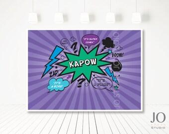 Superhero Sweet Table / Candy Buffet Printable Backdrop / Superhero Party