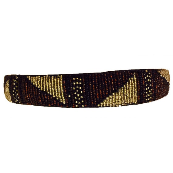 African Bands: African Beaded Headband Beaded Hair Band By TraderJacksBazaar