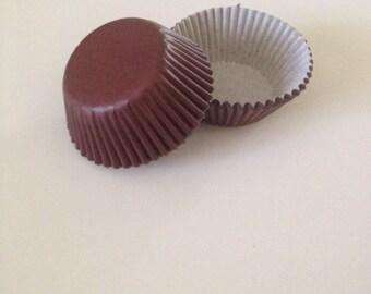 Mini Brown Cupcake Liners