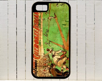 A Vintage 1880s Baseball Poster Fot the Cherokee Indians, a Native American Team iPhone Case 4, 4s, 5, 5C, 6, 6+ and Samsung Galaxys