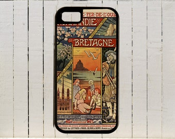 Lush Vintage Illustration And Type Adorn This Very Beautiful French Travel Poster iPhone Case 4,4s,5,5C,6,6+ and Samsung Galaxy3,4,5,6,Edge
