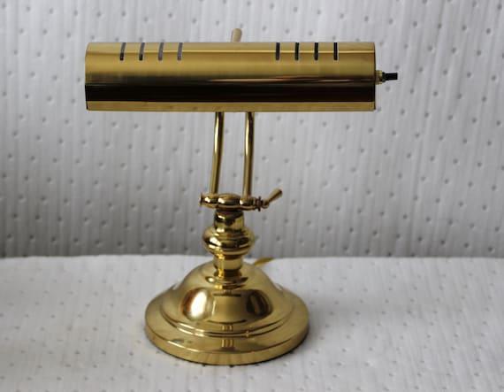 vintage brass adjustable electric table lamp by. Black Bedroom Furniture Sets. Home Design Ideas