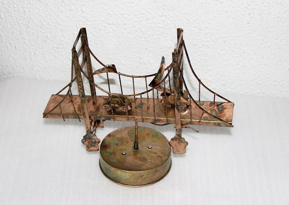 vintage metal art golden gate bridge with by queenieseclectic. Black Bedroom Furniture Sets. Home Design Ideas