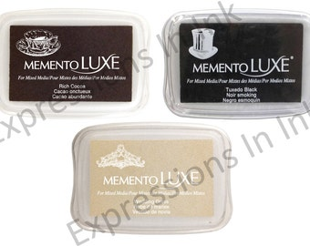 NEW! Tsukineko Memento Luxe Full Size Ink Pad - Choice of 3 Colors