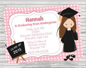 kindergarten graduation invitation  etsy, Quinceanera invitations