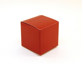 Red Favor box, Small favor boxes, 3x3x3, red wedding favor boxes, red treat boxes, goodie bag, red candy buffet box, red party boxes