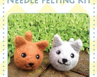 Make your own cat Decoration Needle Felted kit makes 2