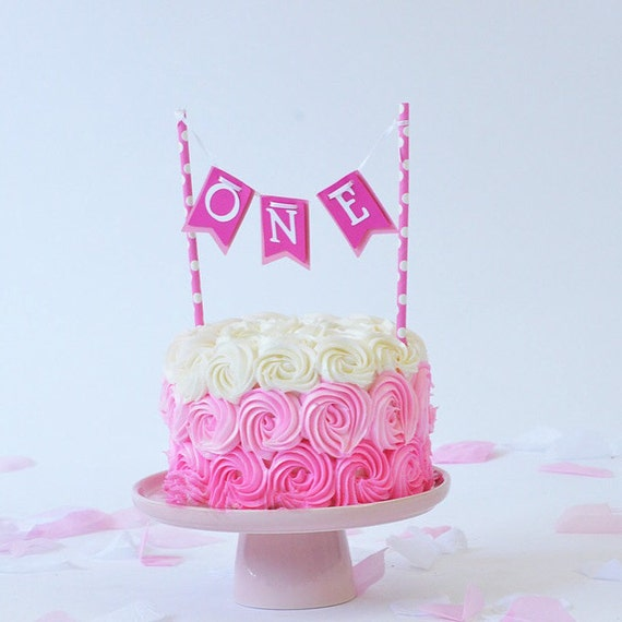 ONE, Cake banner, cake smash banner, first Birthday, I am one,