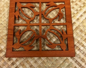 Turtle Wood Trivet - Pot Holder