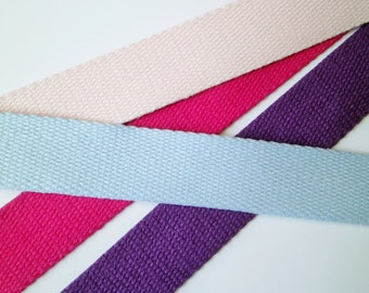 1 m Twill Tape - Webbing New Colours 40 mm w. cotton