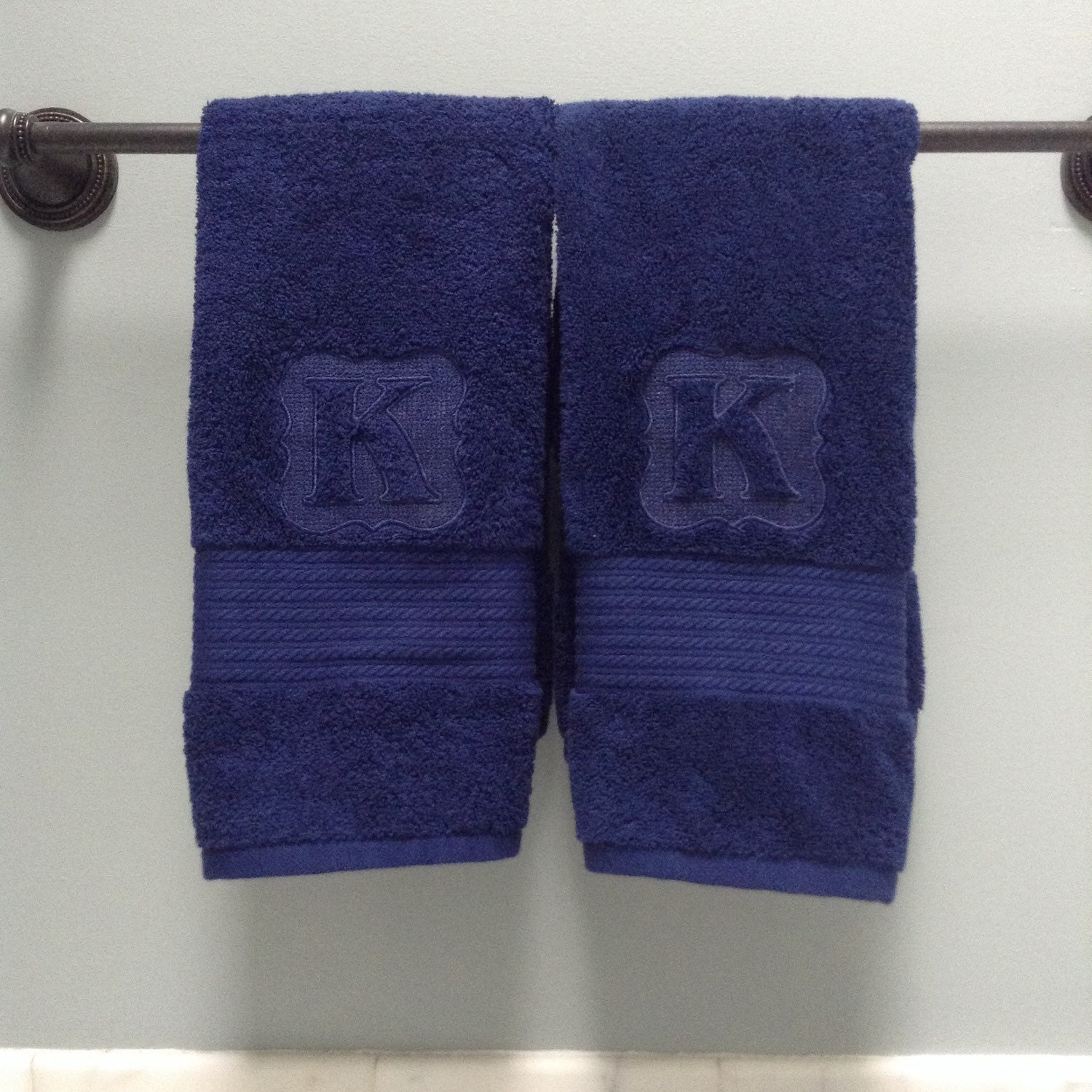 Embroidered / Embossed Initial Hand Towels