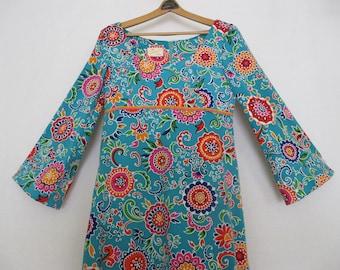Psychedelic Dress Hippie Dress Granny Dress Flower Power Dress