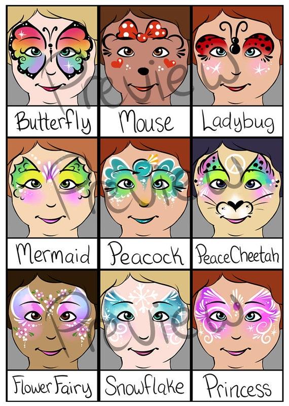 Elf Face Painting Designs