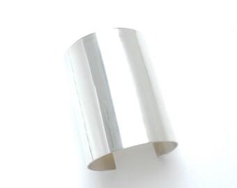 modern statement argentium sterling silver cuff