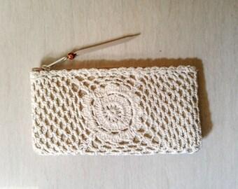 Handmade Crochet Clutch - Crochet wallet - Handmade Wallet