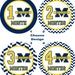 Baby Month Sticker, Baby Monthly Sticker, Baby Milestone Sticker, Michigan Wolverines, Maize, Blue, Yellow, Chevron, NCAA - 4