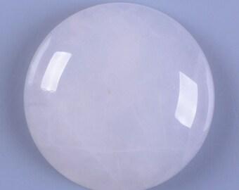 2 pcs of  30mm White jade round flatback cab cabochon