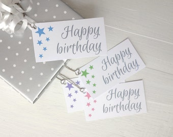 Birthday gift tags stars gift tags happy birthday tags modern gift tags set