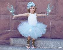 Frozen Inspired Tutu Skirt: Girls Tutu Skirt, Birthday, Disney Tutu Skirt, Elsa Party, Frozen Party, Blue Tutu Skirt, Queen Elsa Tutu Skirt