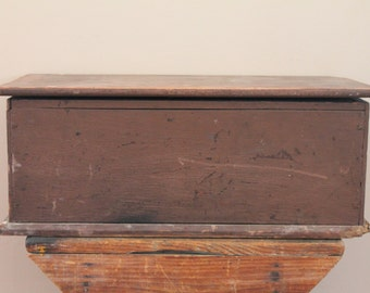 Antique Tool Box - Removable Tray - Mechanic - Clock - Tabletop - Small - Painted - Chest