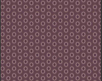 One Yard - 1 Yard of Oval Elements Prune Brown - Art Gallery Fabrics