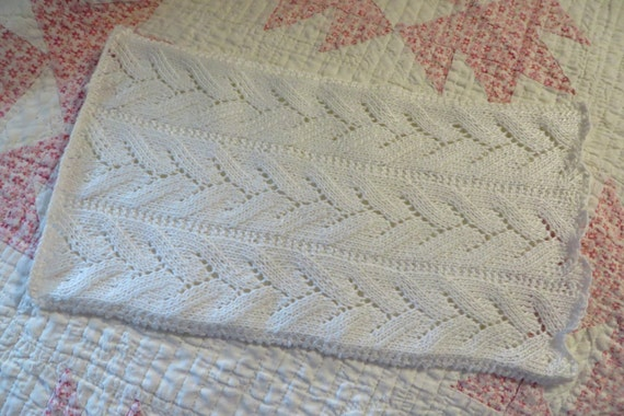 SHIPS FREE // Doll Blanket // Hand Knit by WendyHuntersWindow
